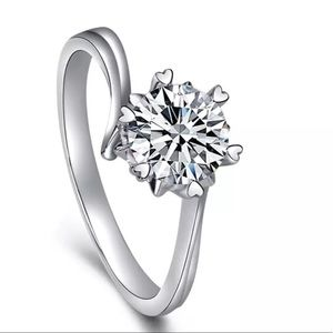 Moissanite engagement wedding bridal ring size 7